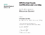 Александр Зубеев - Сертификат HPE Sales Certified Introduction to Selling HPE Solutions 2017