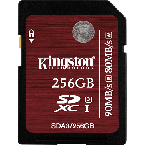 Карта памяти Kingston SDXC Class 3 256GB, SDA3/256GB