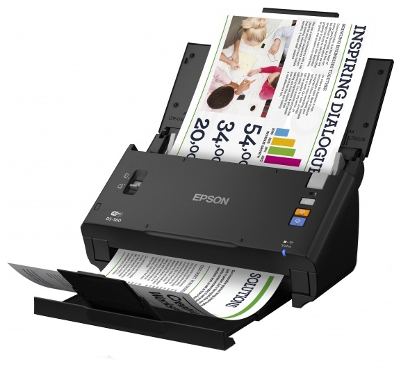 Сканер EPSON WorkForce DS-560 Протяжный A4 600 x 600dpi, B11B221401