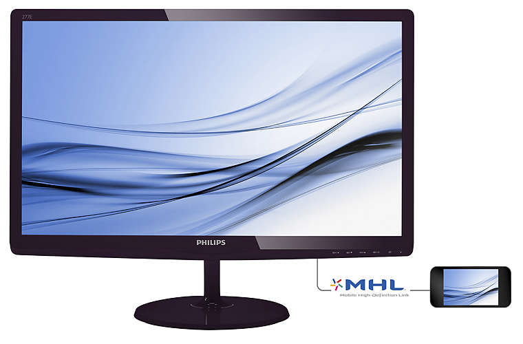 "Монитор Philips 277E6EDAD 27"" LED IPS Чёрный, 277E6EDAD/00"