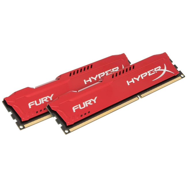 item-slider-more-photo-Фото Комплект памяти Kingston HyperX FURY Red 16ГБ DIMM DDR3 non ECC , 1600MHz (2х8ГБ), HX316C10FRK2/16 - фото 1