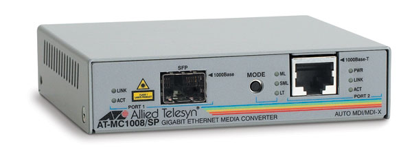Медиаконвертер Allied Telesis 1000Base-T-1000Base-X RJ-45-SFP, AT-MC1008/SP-YY