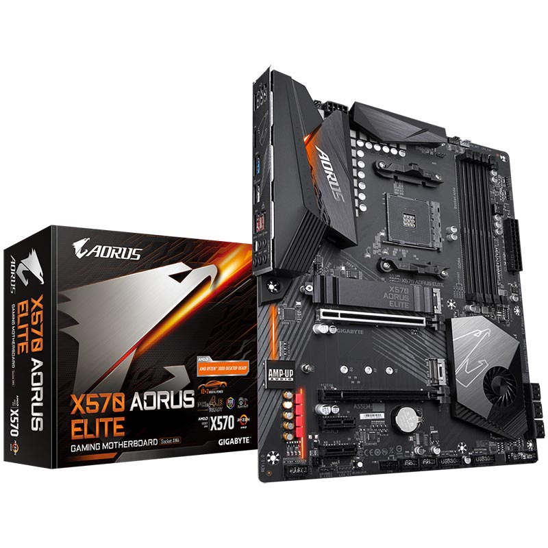 Материнская плата Gigabyte X570 AORUS ELITE ATX AMD AM4, X570 AORUS ELITE