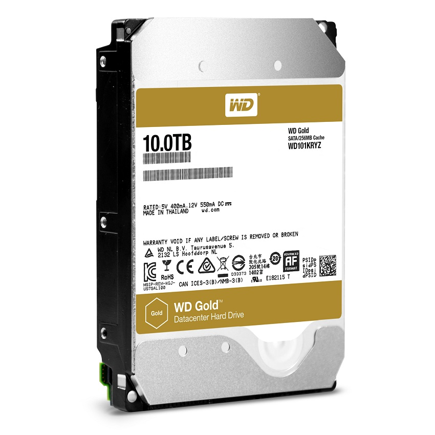 "Диск HDD Western Digital Gold SATA III (6Gb/s) 3.5"" 10TB, WD101KRYZ"