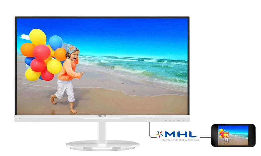 "Монитор Philips 234E5QHAW 23"" LED IPS Белый, 234E5QHAW/00"