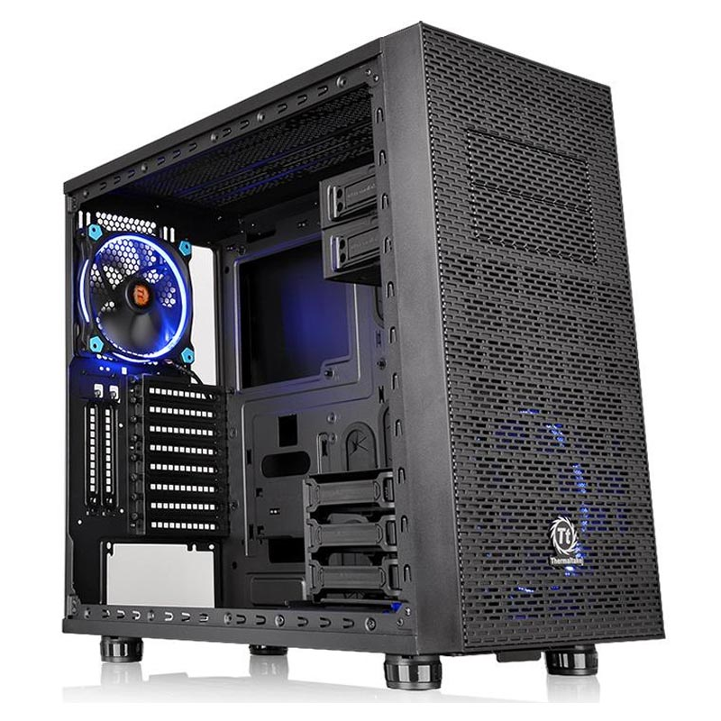 Корпус Thermaltake Core X31 Tempered Glass Edition Miditower Без БП Чёрный, CA-1E9-00M1WN-03