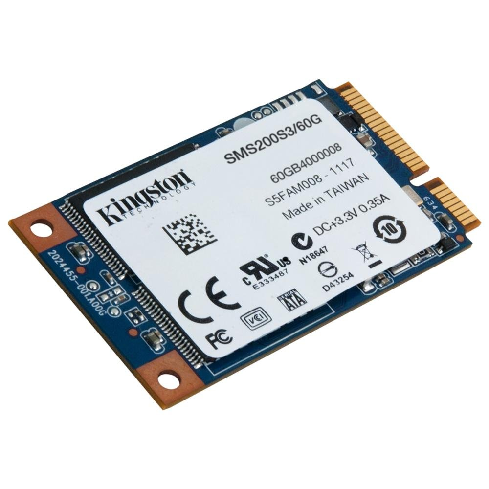 Диск SSD Kingston SSDNow mS200 mSATA 60GB SATA III (6Gb/s), SMS200S3/60G