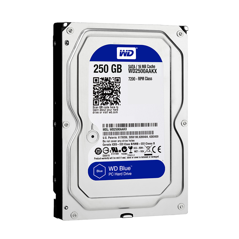 "Диск HDD Western Digital Blue SATA III (6Gb/s) 3.5"" 250GB, WD2500AAKX"