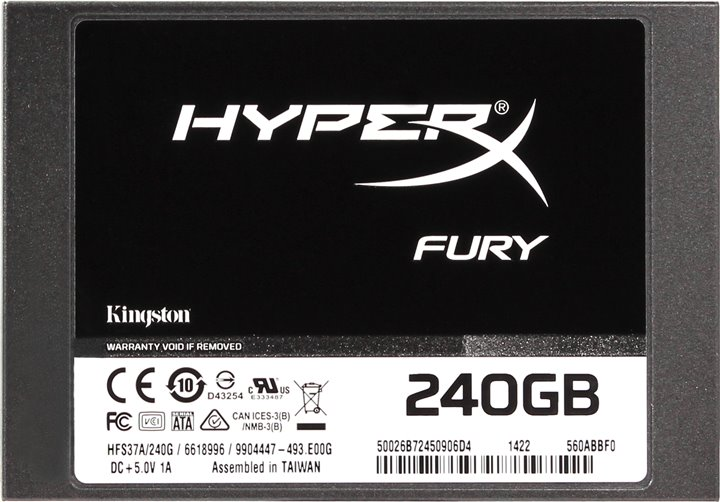 "Диск SSD Kingston HyperX FURY 2.5"" 240GB SATA III (6Gb/s), SHFS37A/240G"