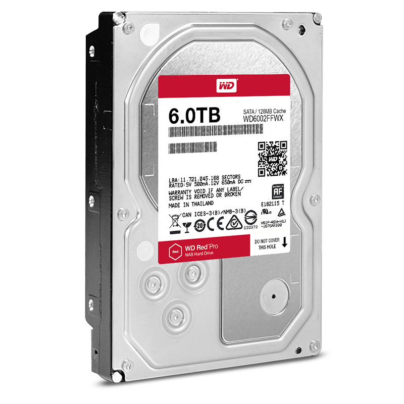 "Диск HDD Western Digital Red Pro SATA III (6Gb/s) 3.5"" 6TB, WD6002FFWX"