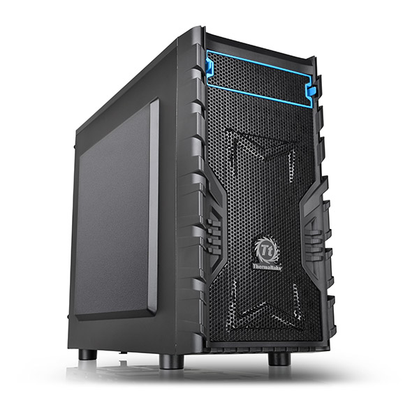 Корпус Thermaltake Versa H13 Microtower Без БП Чёрный, CA-1D3-00S1NN-00