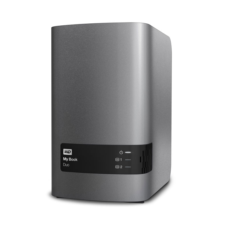 "Внешний диск HDD Western Digital My Book Duo 8TB 3.5"" USB 3.0 Серый, WDBRMH0080JCH-EEUE"