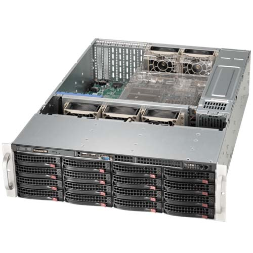 Корпус Supermicro SuperChassis 836BE16-R920B Rack 920Вт Чёрный 3U, CSE-836BE16-R920B