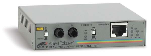 Медиаконвертер Allied Telesis 100Base-TX-100Base-FX RJ-45-ST, AT-MC101XL-YY