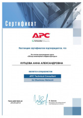 Мамсик (Купцова) А. А. - APC Technical Consultant for Business Network 2011
