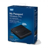 "Картинка Внешний диск HDD WD My Passport Wireless Pro 2TB 2.5"" USB 3.0 Чёрный WiFi, WDBP2P0020BBK-RESN"
