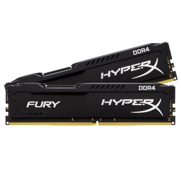 item-slider-more-photo-Фото Комплект памяти Kingston HyperX FURY Black 16ГБ DIMM DDR4 non ECC , 2400MHz (2х8ГБ), HX424C15FBK2/16 - фото 1