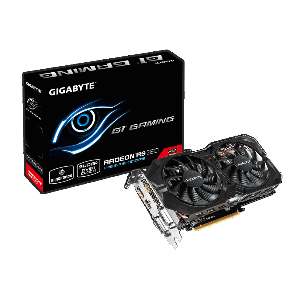 Видеокарта Gigabyte AMD Radeon R9 380 GDDR5 4GB, GV-R938G1 GAMING-4GD
