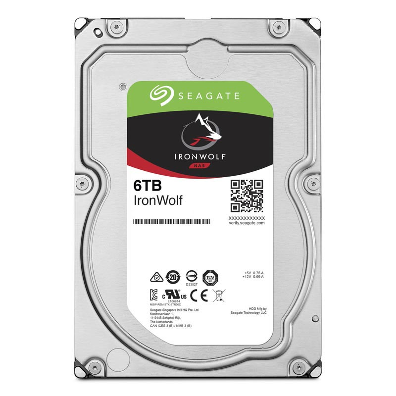 "Диск HDD Seagate IronWolf SATA III (6Gb/s) 3.5"" 6TB, ST6000VN001"