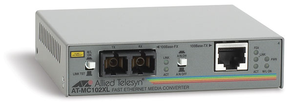 Медиаконвертер Allied Telesis 100Base-TX-100Base-FX RJ-45-SC, AT-MC102XL-YY
