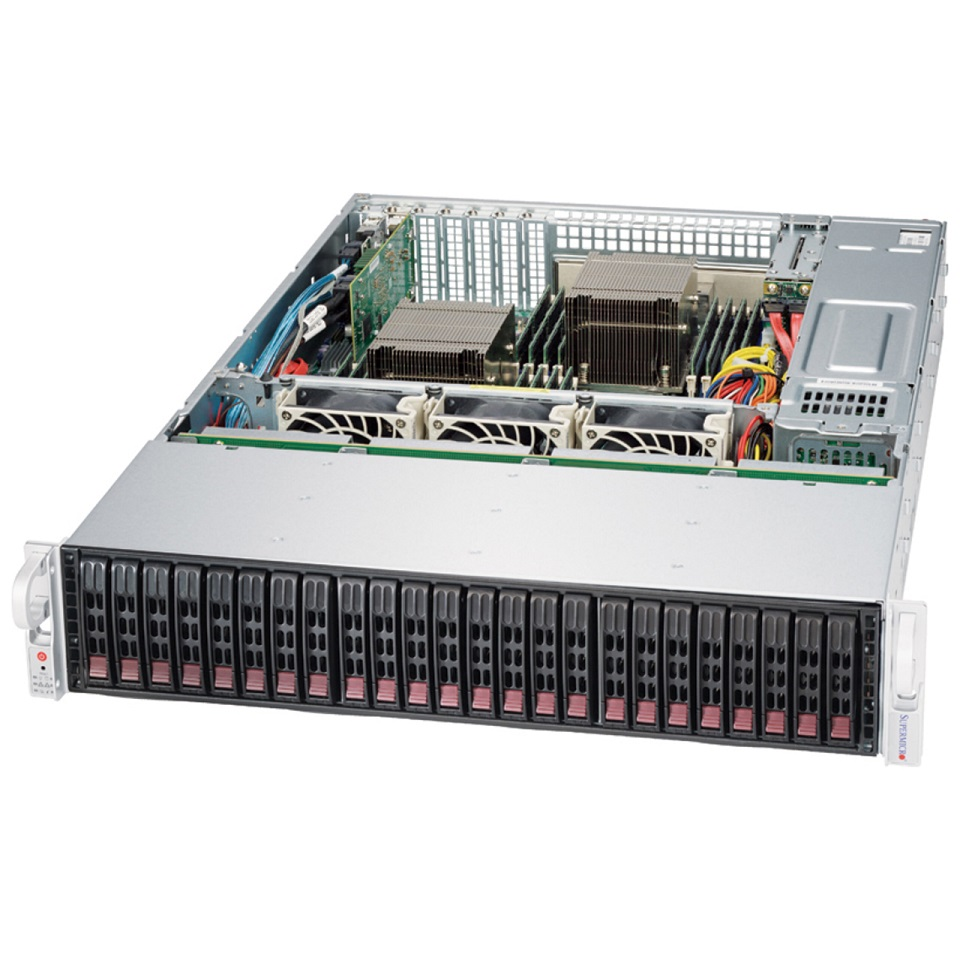 Корпус Supermicro SuperChassis 216BE2C-R920LPB Rack 920Вт Чёрный 2U, CSE-216BE2C-R920LPB