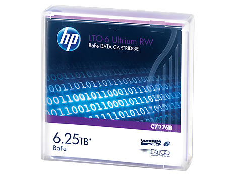 Лента HP Enterprise LTO-6 2 500/6 250ГБ 1-pack, C7976B