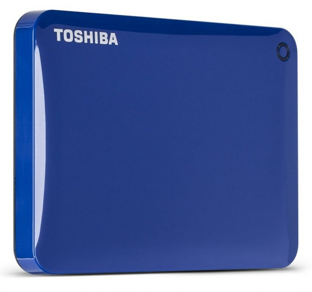 "Внешний диск HDD Toshiba Canvio Connect II 500GB 2.5"" USB 3.0 Синий, HDTC805EL3AA"