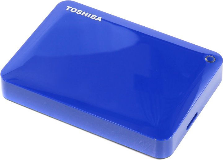 "Внешний диск HDD Toshiba Canvio Connect II 2TB 2.5"" USB 3.0 Синий, HDTC820EL3CA"