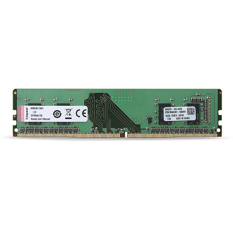 Модуль памяти, Kingston,  KVR24N17S6/4 DDR4, 4 GB
