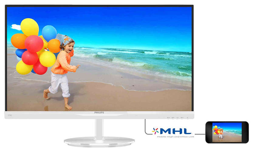 "Монитор Philips 274E5QHAW 27"" LED IPS Белый, 274E5QHAW/01"
