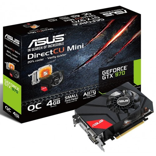Видеокарта Asus nVidia GeForce GTX 970 GDDR5 4GB, GTX970-DCM-4GD5