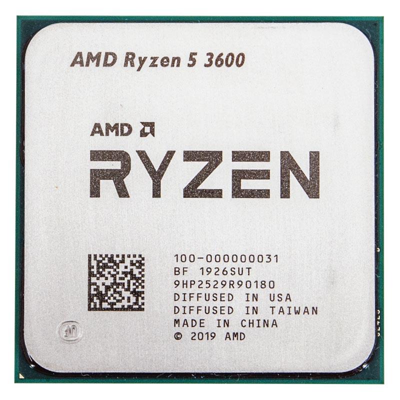 Процессор AMD Ryzen 5-3600 3600МГц AM4, Oem, 100-000000031