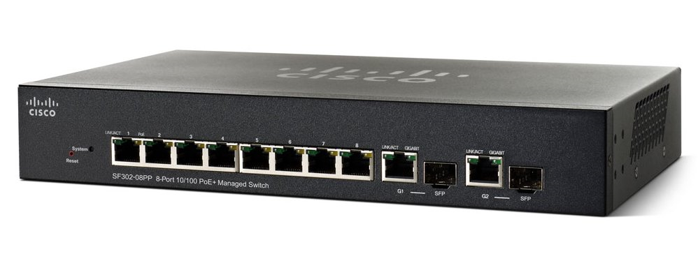 Коммутатор Cisco SRW208G Управляемый 10-ports, SRW208G-K9-G5