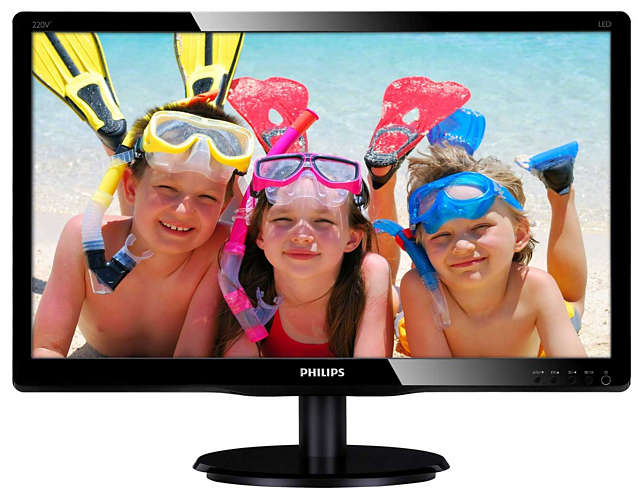 "Монитор Philips 220V4LSB 22"" LED TN Чёрный, 220V4LSB/00"