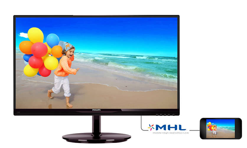 "Монитор Philips 234E5QDAB 23"" LED IPS Чёрный, 234E5QDAB/01"