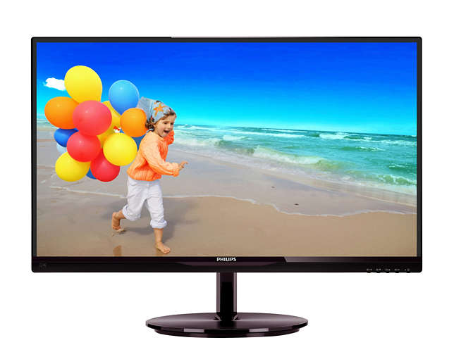 "Монитор Philips 224E5QSB 21.5"" LED IPS Чёрный, 224E5QSB/01"