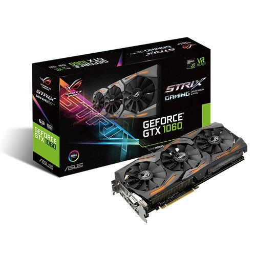 Видеокарта Asus nVidia GeForce GTX 1060 GDDR5 6GB, STRIX-GTX1060-6G-GAMING