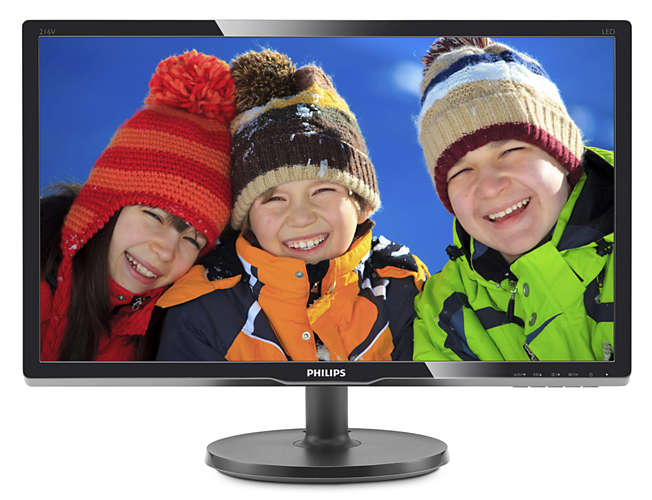 "Монитор Philips 216V6LSB2 20.7"" LED TN Чёрный, 216V6LSB2/62"