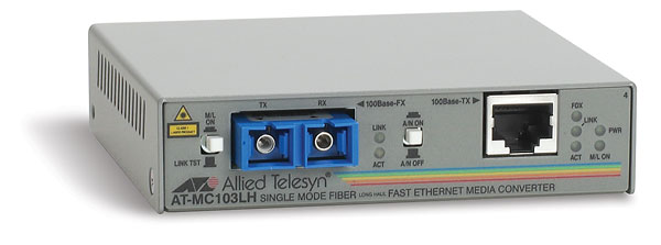 Медиаконвертер Allied Telesis 100Base-TX-100Base-FX RJ-45-SC, AT-MC103LH-60