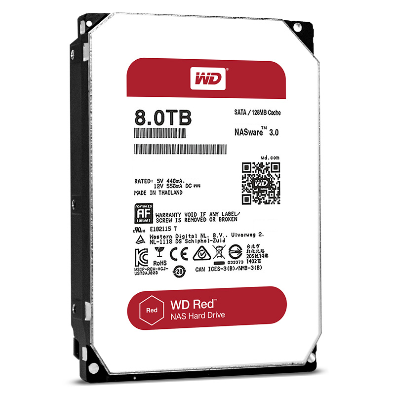 "item-slider-more-photo-Фото Диск HDD Western Digital Red SATA III (6Gb/s) 3.5"" 8TB, WD80EFZX - фото 1"