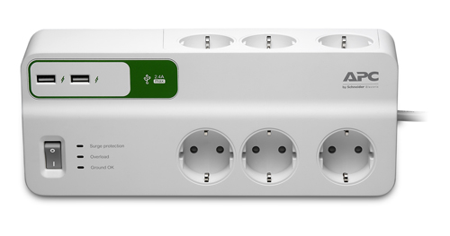 item-slider-more-photo-Фото Сетевой фильтр APC by Schneider Electric Essential SurgeArrest 2 м Белый, PM6U-RS - фото 1