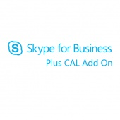 Картинка Подписка Microsoft Skype for Business Plus CAL Add On Single OLP 12 мес., W35-00003
