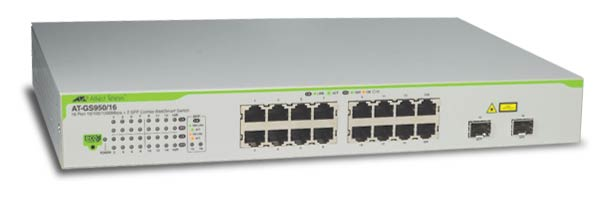 Коммутатор Allied Telesis AT-GS950 Настраиваемый (Smart) 18-ports, AT-GS950/16-XX