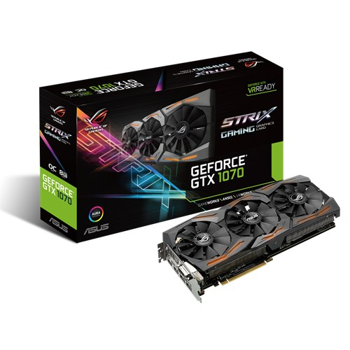 Видеокарта Asus nVidia GeForce GTX 1070 GDDR5 8GB, STRIX-GTX1070-O8G-GAMING