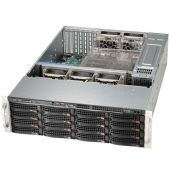 Картинка Корпус Supermicro SuperChassis 836BE16-R920B Rack 920Вт Чёрный 3U, CSE-836BE16-R920B