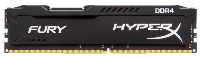 Модуль памяти Kingston HyperX FURY Black 16ГБ DIMM DDR4 non ECC 2400МГц, HX424C15FB/16