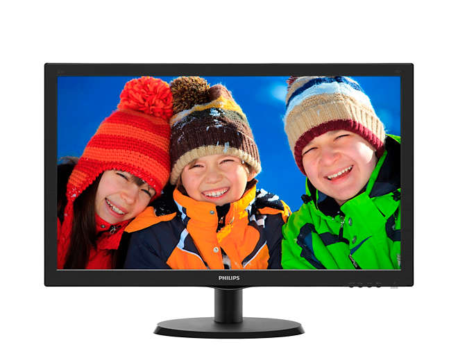 "Монитор Philips 223V5LSB 21.5"" LED TN Чёрный, 223V5LSB/01"