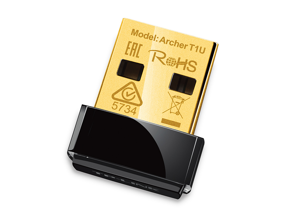 item-slider-more-photo-Фото USB адаптер TP-Link IEEE 802.11 a/n/ac 5 ГГц 433Мб/с USB 2.0, ARCHER T1U - фото 1
