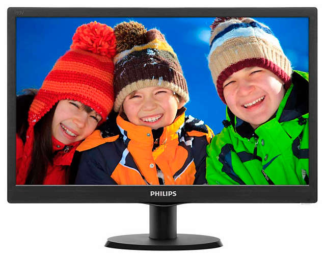 "Монитор Philips 193V5LSB2 18.5"" LED TN Чёрный, 193V5LSB2/62"