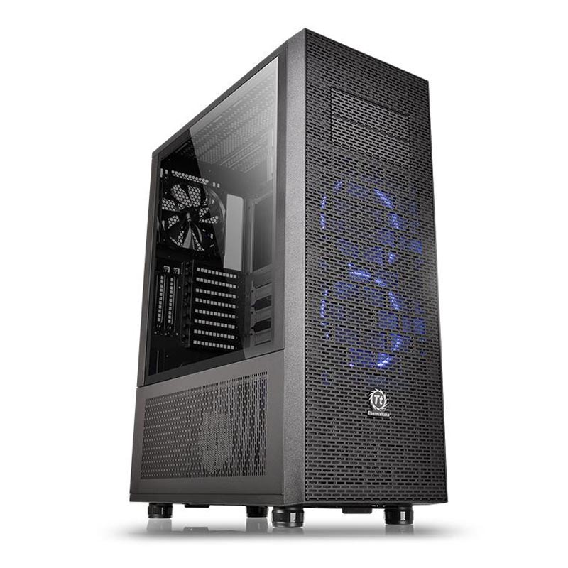 Корпус Thermaltake Core X71 Tempered Glass Edition Tower Без БП Чёрный, CA-1F8-00M1WN-02